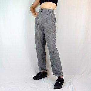 Vintage houndstooth pleated trousers